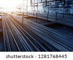steel rebar for reinforcement... | Shutterstock . vector #1281768445