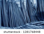 steel rebar for reinforcement... | Shutterstock . vector #1281768448