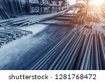 steel rebar for reinforcement... | Shutterstock . vector #1281768472
