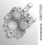 vector gears eps10 | Shutterstock .eps vector #128177315