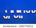 medicines drugs. many white... | Shutterstock . vector #1281776512