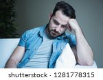 worried man portrait depressed... | Shutterstock . vector #1281778315