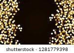 round gold glitter confetti | Shutterstock .eps vector #1281779398