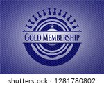 gold membership badge with... | Shutterstock .eps vector #1281780802