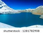 tilicho lake   4 919 m   in the ... | Shutterstock . vector #1281782908