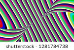 colorful rainbow striped... | Shutterstock . vector #1281784738