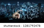 businessman on blurred... | Shutterstock . vector #1281792478