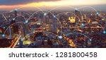 network connection in bangkok... | Shutterstock . vector #1281800458