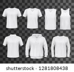 shirts template of white blank... | Shutterstock .eps vector #1281808438