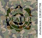 dealer camouflaged emblem | Shutterstock .eps vector #1281817708