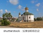 Temple in the name of St. Luke at the intersection of Concord Street and Victory Avenue in the city of Evpatoria, Crimea, Russia