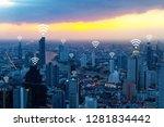 wifi network internet concept... | Shutterstock . vector #1281834442