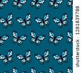 abstract seamless butterfly... | Shutterstock .eps vector #1281839788