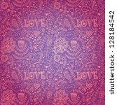 valentine's day pattern. copy... | Shutterstock .eps vector #128184542