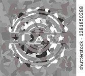 dab on grey camo texture | Shutterstock .eps vector #1281850288