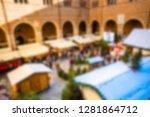 conceptual defocused abstract... | Shutterstock . vector #1281864712
