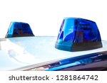 police car siren light  blue... | Shutterstock . vector #1281864742