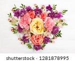 beautiful spring flowers on... | Shutterstock . vector #1281878995