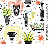 seamless pattern with ancient... | Shutterstock .eps vector #1281880975