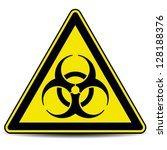 biohazard  sign. | Shutterstock .eps vector #128188376