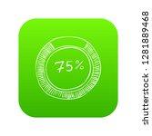 percent showing infographics.... | Shutterstock .eps vector #1281889468