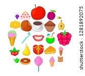 best cook icons set. cartoon... | Shutterstock .eps vector #1281892075