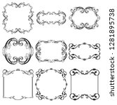 vector set vintage border frame ...   Shutterstock .eps vector #1281895738