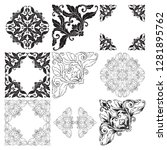 vector set vintage border frame ... | Shutterstock .eps vector #1281895762