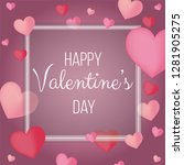valentines day background with...   Shutterstock .eps vector #1281905275