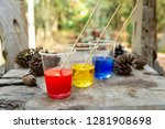 epoxy resin red yellow blue... | Shutterstock . vector #1281908698