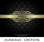 vintage seamless wallpaper with ... | Shutterstock .eps vector #128191046