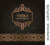 vintage seamless background...   Shutterstock .eps vector #128191256