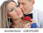 portrait of a young couple in... | Shutterstock . vector #128192285