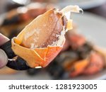 close up of steamed crab on... | Shutterstock . vector #1281923005