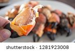 close up of steamed crab on... | Shutterstock . vector #1281923008