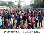 dhaka  bangladesh   january 12  ... | Shutterstock . vector #1281941362