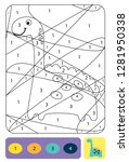 cute dino coloring page for... | Shutterstock .eps vector #1281950338