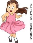 illustration of a kid girl... | Shutterstock .eps vector #1281960442