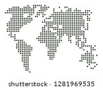 world map vector  isolated on... | Shutterstock .eps vector #1281969535