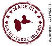made in basse terre island... | Shutterstock .eps vector #1281982345
