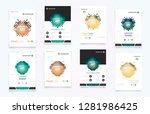 book cover design annual report ... | Shutterstock .eps vector #1281986425
