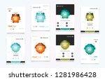 book cover design annual report ... | Shutterstock .eps vector #1281986428