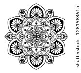 mandalas for coloring  book.... | Shutterstock .eps vector #1281988615