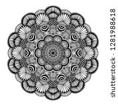 mandalas for coloring  book.... | Shutterstock .eps vector #1281988618
