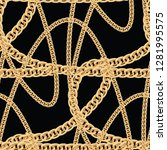 gold chain seamless background... | Shutterstock .eps vector #1281995575