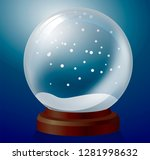 vector christmas snowglobe on... | Shutterstock . vector #1281998632