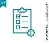 checklist icon  information icon | Shutterstock .eps vector #1282003195