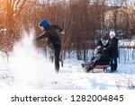 the family has fun together  ... | Shutterstock . vector #1282004845