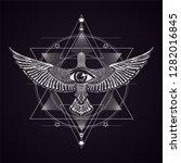 alchemy.masonic symbol... | Shutterstock .eps vector #1282016845
