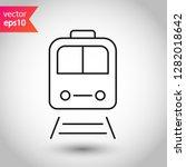 train icon.  metro symbol.... | Shutterstock .eps vector #1282018642